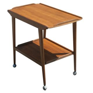 Teak Two Tier Serving Tea Cart Trolley By Remploy photo