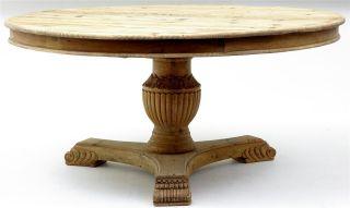 Pine Pedestal Dining Table 63