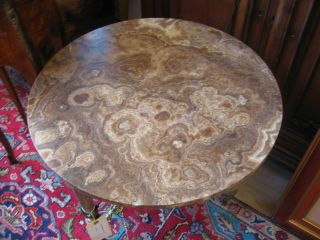 Bronze And Marble Round Side Table photo