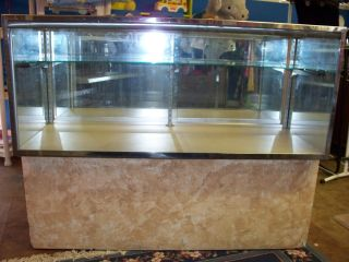 Display Case Showcase Knives Jewelry Dolls Crystal China Deluxe ' 50 ' S Case (ar) photo