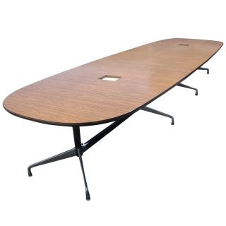 15ft Herman Miller Eames Conference Laminate Table photo