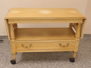 French Country Provincial Serving Cart Trolley Table photo