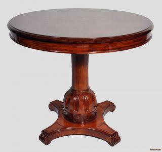 Empire Style Round Pedestal Table photo