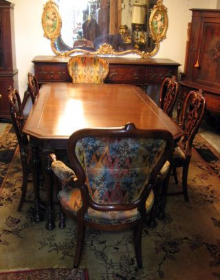 1930s Mahogany Dining Room Set photo