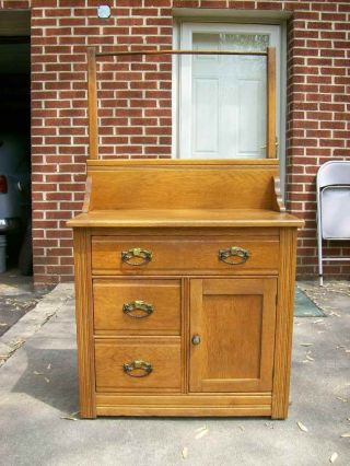 Antique Oak Washstand photo