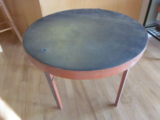 Vtg Peerless Folding Poker Table Leather Card Table Restoration Project photo