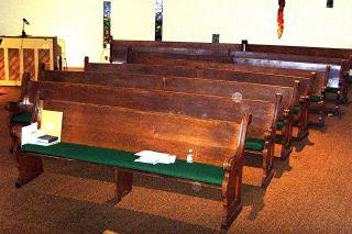 Antique Oak Church Pews photo