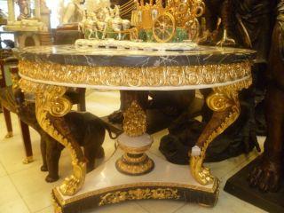 Empire Style Marbel Bronze Dore Table photo