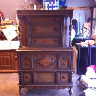 Hand Crafted German Wardorbe - Old - Great Shape - Local Pick Up photo