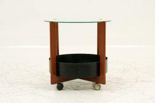 Danish Circular Side Table & Planter photo