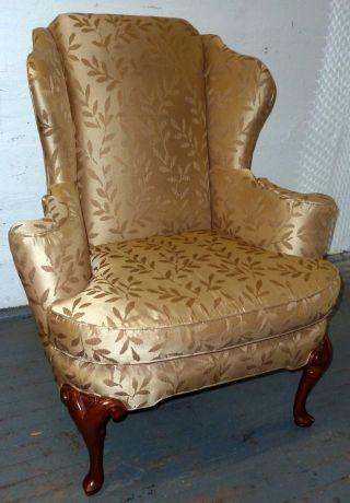 Baker Wing Armchair Baker Historic Charleston Furniture Queen Anne Chair photo