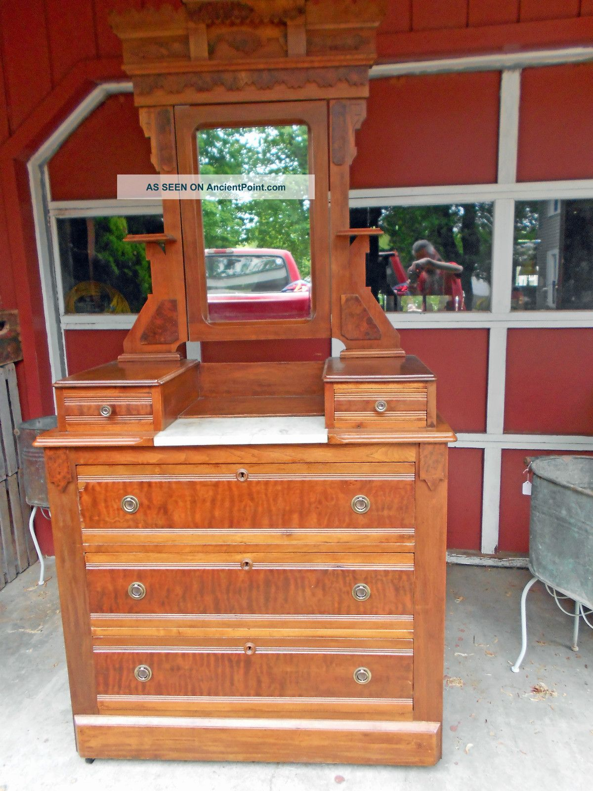 Antique Dresser With Mirror And Marble Top Bestdressers 2017