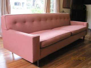 Wormley Dunbar Mid Century Modern Vintage Sofa photo