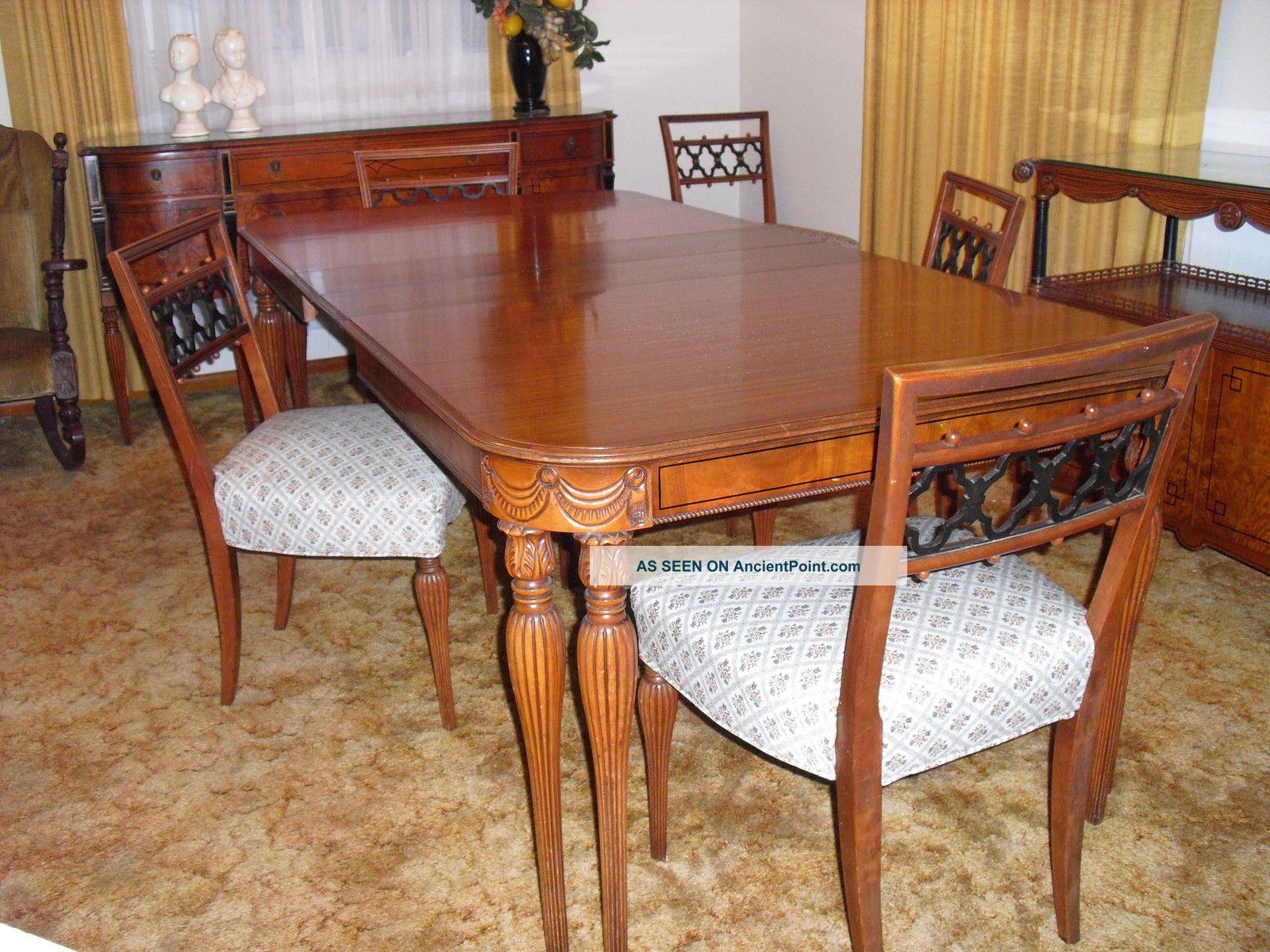 antique victorian dining room set