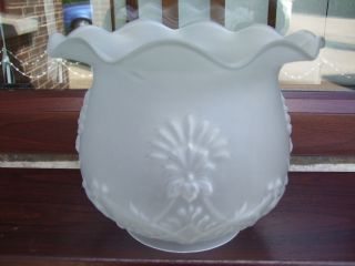 Lovely Frosted Glass Tulip Oil Lamp Shade photo