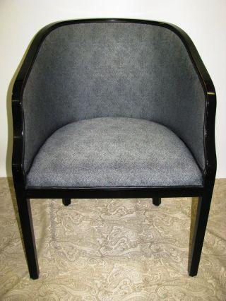 Vintage Geiger Brickel Ward Bennett Carved Upholstered Side Chair Eames Era photo