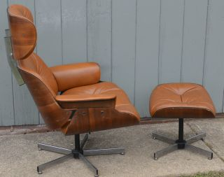 Mid - Century Modern Eames Style Plycraft Lounge Chair Vintage Eames Club Knoll photo