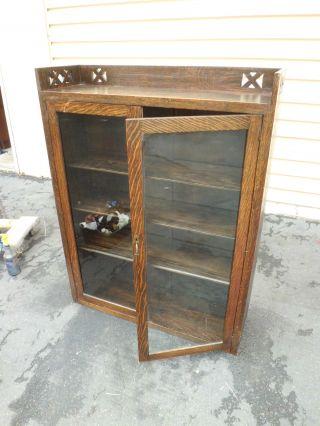50939 Antique Mission Oak 2 Door Bookcase photo