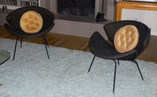 Mid Century Modern Pair Of Clamshell Chairs photo