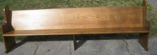 20 Vintage Solid Oak Church Pews / Benches 10 ' Long photo