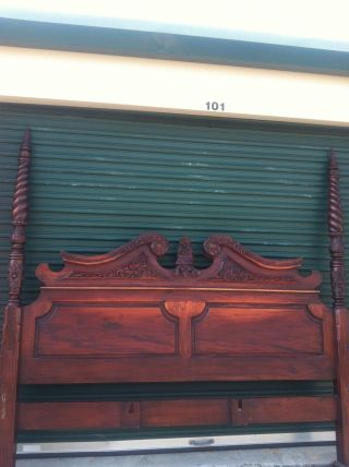 Antique King Size Rice Bed photo