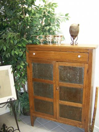 Antique 19th Century Tin Pie Safe / Cupboard +++great Condition+++ photo
