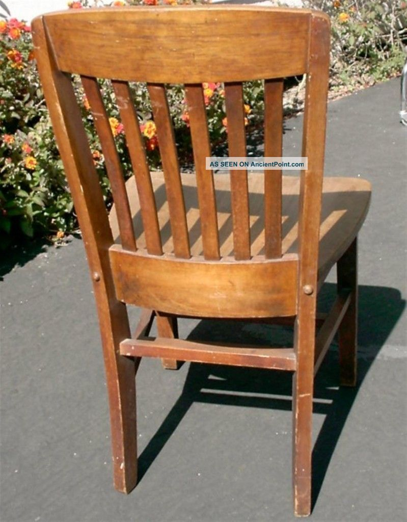 Vintage Wooden School Chairs Viewing Gallery