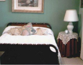 Antique Walnut Spool Bed 1860 With Orginal 6 1/2