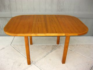 Vintage Danish Mid Century Modern Teakwood Dining Table Desk photo