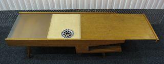 Mid Century Brown Saltman Coffee Table Eames Modern 1950s photo