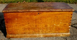 Antique Hope Chest / Trunk - 100 Years Old - Solid - Needs Some Tlc photo