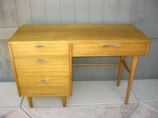 Vintage Danish Mid Century Modern Writing Desk By Stanley Computer Desk photo