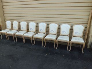 50743 Set 8 Paoletti Furniture Shabby Decorator Side Chairs Chair S photo