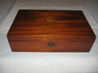 Antique Wooden Lap Desk - Secretary Dated 1864 photo