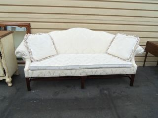 50265 Kindel Furniture Chippendale Carved Sofa Couch Quality Made photo