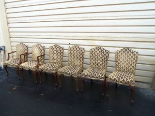 49324 Set 6 French Upholstered Chairs Chair S photo