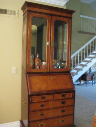 Rare Old Vintage Century Furniture Of Distinction Mahogany Secretary photo