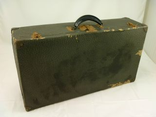 Vintage Antique Trunk Chest Traveling Luggage Case Latches Old photo