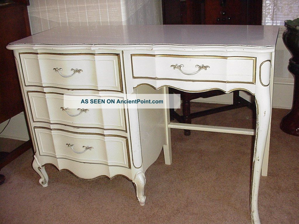 #2E1A16 75857 French Provincial Broyhill White Desk Laminate Top Gold Trim  with 1024x768 px of Brand New White French Desk 7681024 pic @ avoidforclosure.info