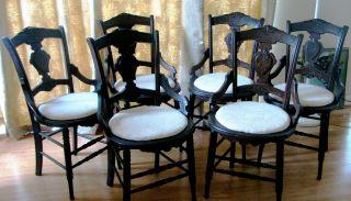 Antique Walnut Victorian - Era Eastlake Dining Chairs photo