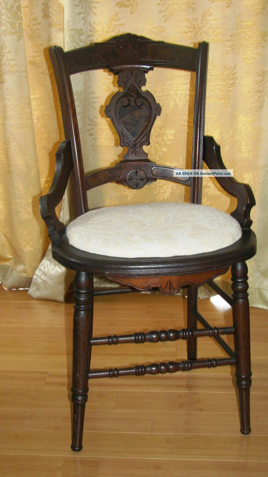 - Antique Walnut Victorian - Era Eastlake Dining Chairs