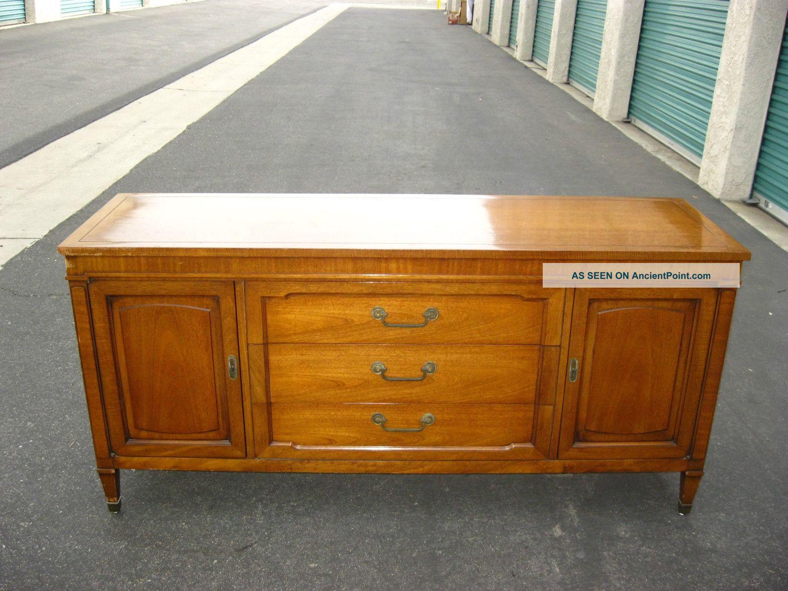 Drexel Vintage Mid Century Modern Low Profile Credenza Sideboard Plasmatv Stand Post-1950 photo