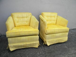 Pair Of Mid - Century Living Room Swivel/rocking Side By Side Chairs 2733 photo