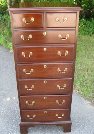 Henkel Harris Solid Mahogany 7 Drawer Lingerie Chest Of Drawers / Dresser photo