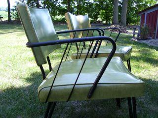 Pair Vtg.  Mid - Century Modern Retro Vinyl Chairs - Douglas Eaton Chair Co Eames Era photo