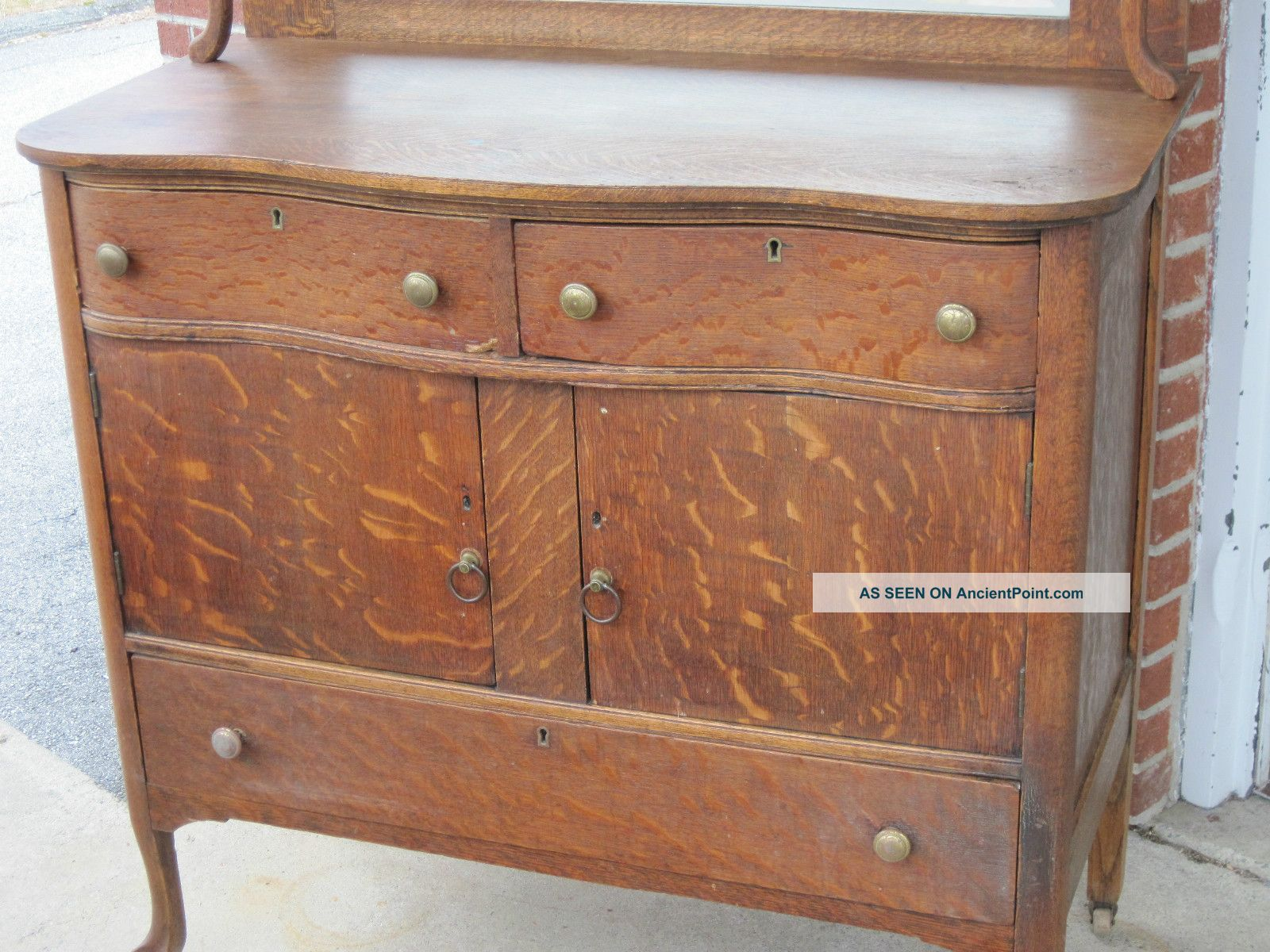 Antique Mission Oak Sideboard Car Interior Design