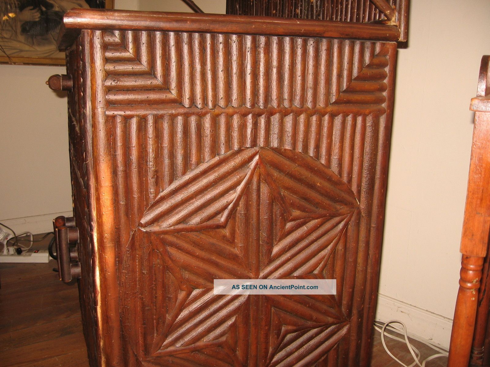 Adirondack Country Cabin Lodge Server Cupboard Rustic Cabinet Twig ...
