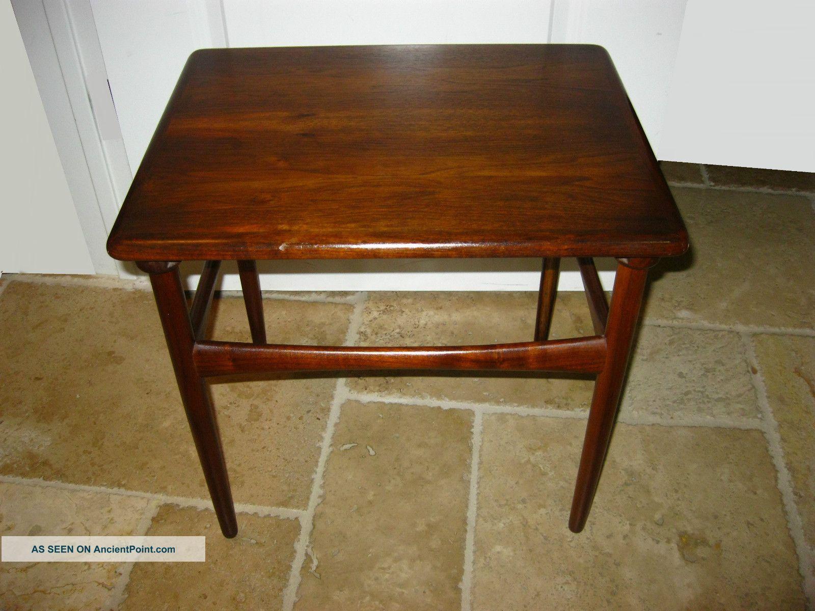 Vintage Danish Modern Teak Wood End Table Made In Denmark Coffee Table
