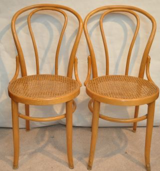 Vintage Pair Of Bentwood Chairs photo