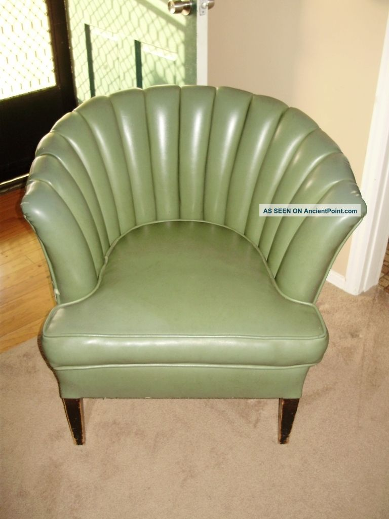 Rare 1950 s tuck and roll chair 1900 1950 photo